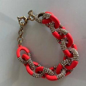 J.Crew Hot Pink Pavé Link Bracelet